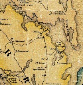 Mill Island & Pond 1858-1