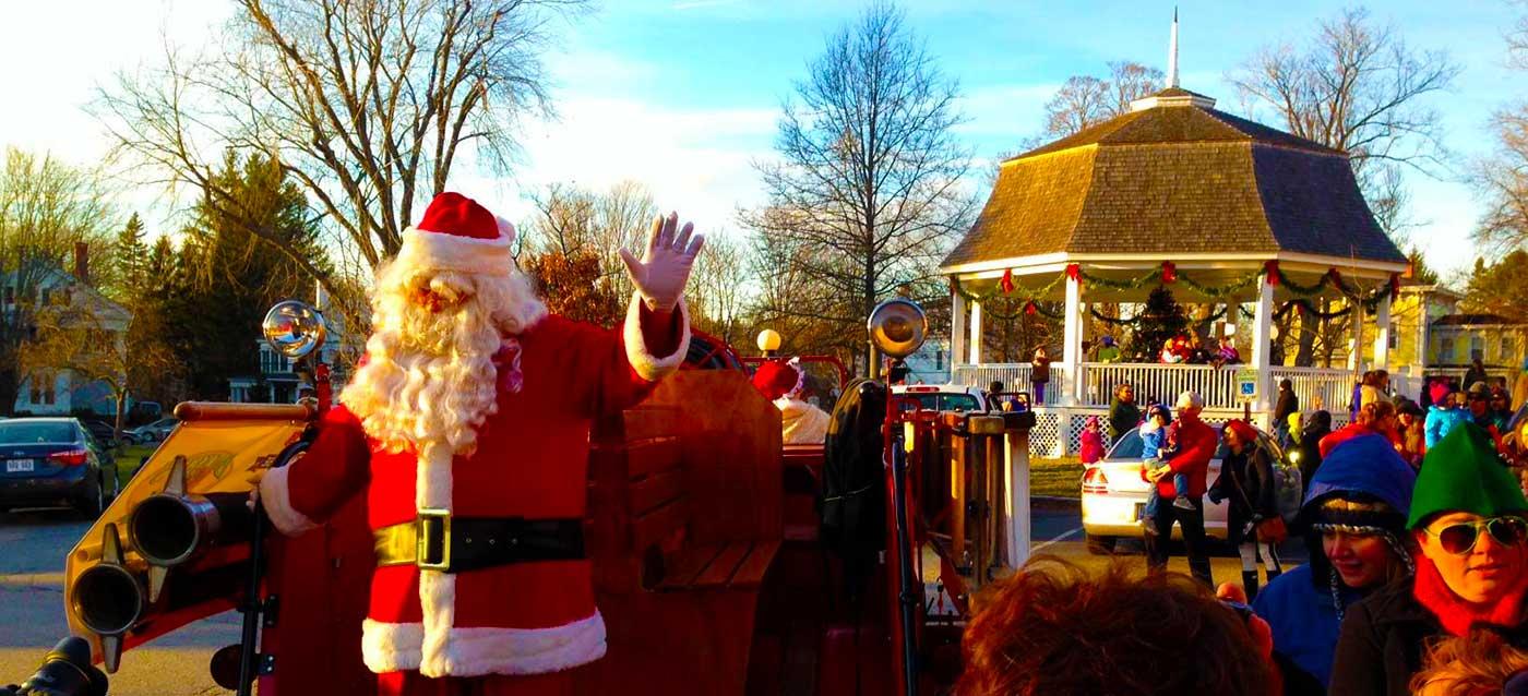 Santa Visits Bath Maine Christmas